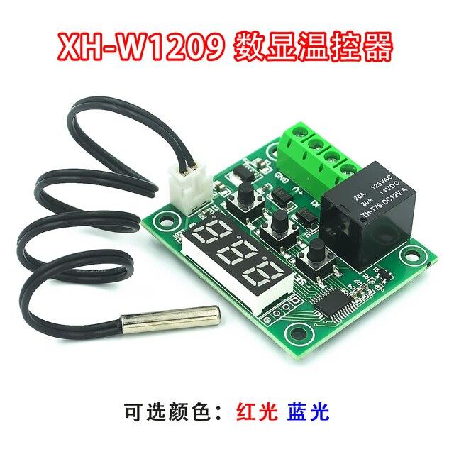10 Cái/lốc W1209 Mini Bình Giữ Nhiệt Bộ Điều Khiển Nhiệt Độ Ủ Bình Giữ Nhiệt Nhiệt Độ Điều Khiển