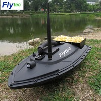 Flytec Fishing Tool Smart RC Bait Boat Toy Dual Motor Fish Finder Fish Boat Remote Control Fishing Boat Ship Speedboat Toys Gift