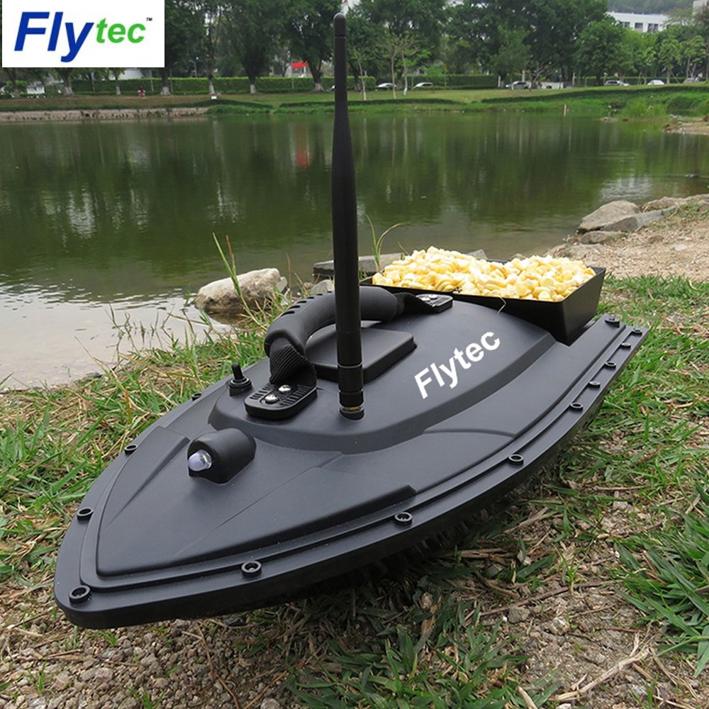Flytec HQ2011 Fishing Tool Smart RC Bait Boat Toy Dual Motor Fish Finder Fish Boat Remote Control Boat Ship Speedboat Toys Gift image