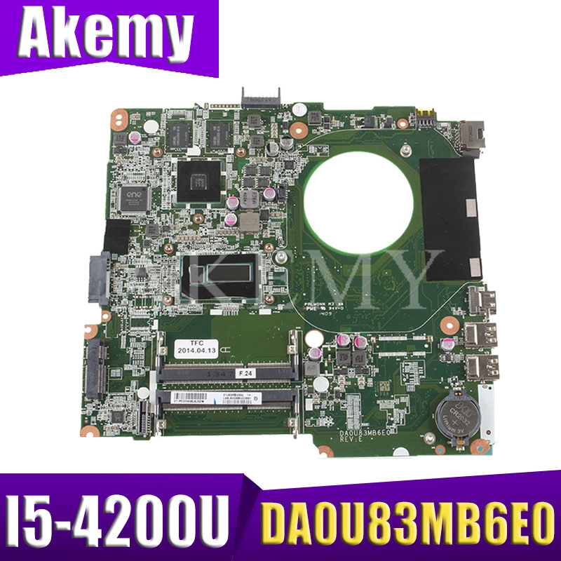 High Quality 734426-501 734426-001 734426-601 For HP 14-N Motherboard I5-4200U DSC 8670M 2GB DA0U83MB6E0 REV:E 100% Tested