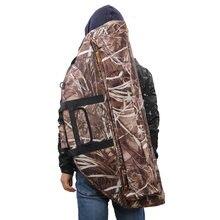 Caça tiro com arco composto lona saco titular carry caso com seta bolso alça & correias 95/115x45cm multi-ferramentas ao ar livre saco