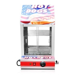 Fy-1P-E Electric Stainless Hot Dog Warming Cabinet  Food Warmer Showcase Display Food Warm Equipment
