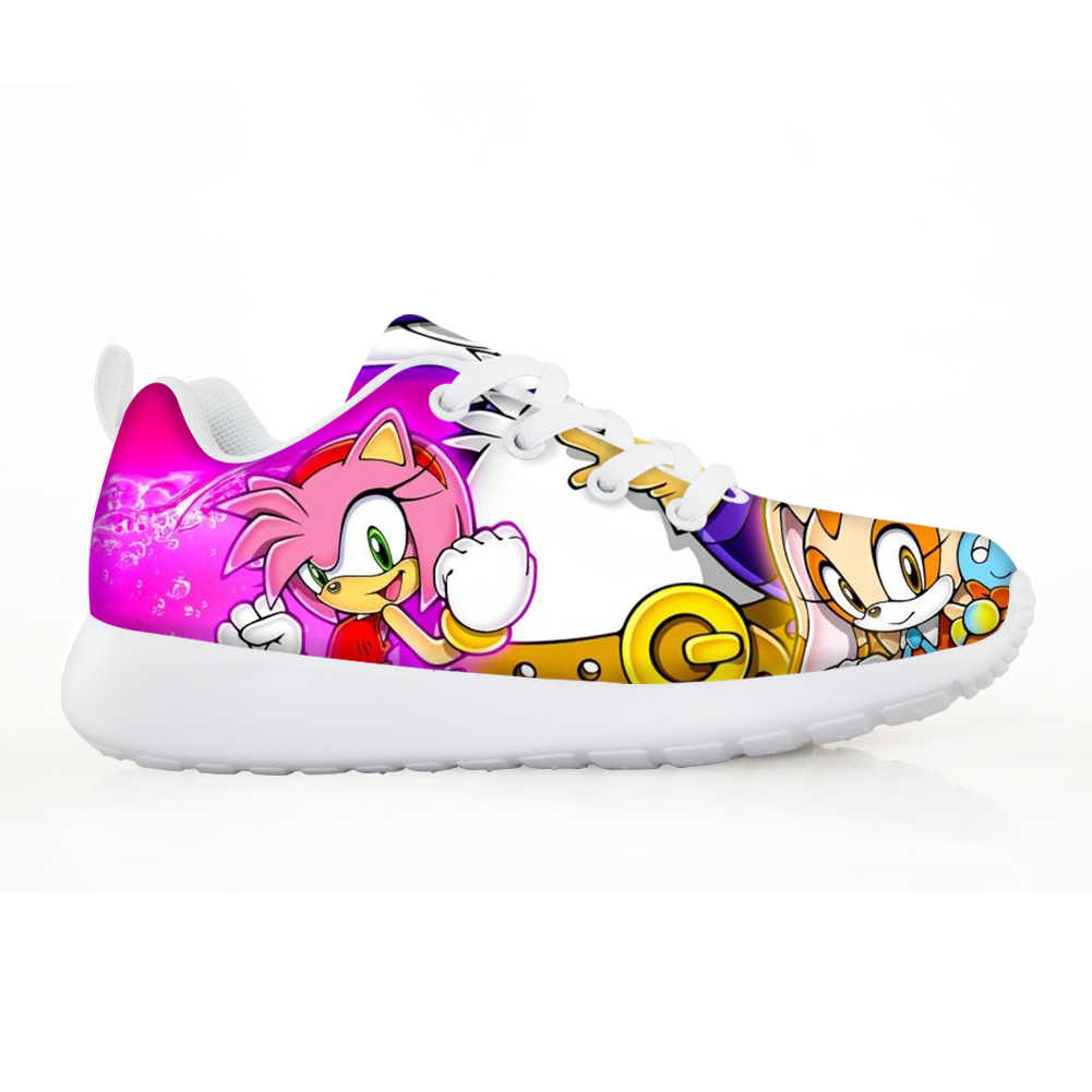 Noisydesigns Kids Shoes Lightweight Pink Girls Sneakers Cute Sonic The Hedgehog Children Breathable Lace Up Casual Zapatos Tenis Aliexpress