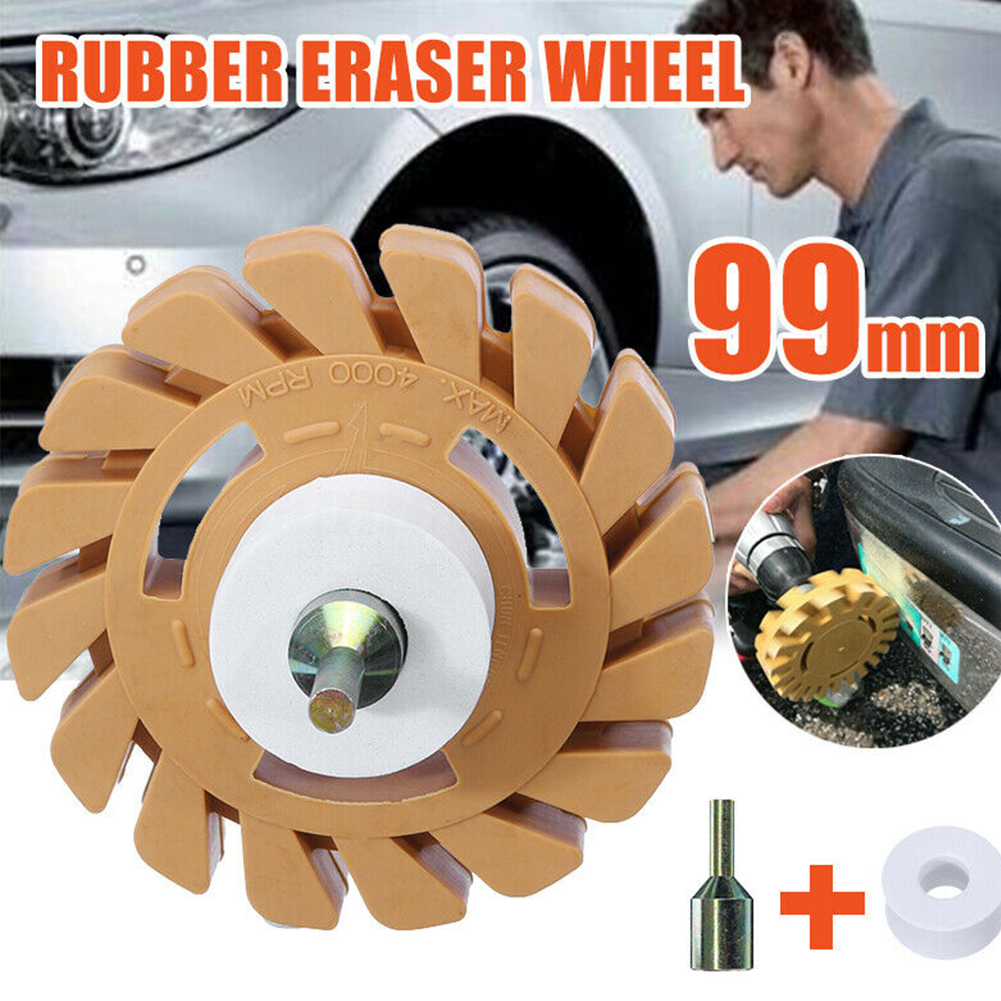 Lightweight Paint Removal Pneumatic Clean Durable Rubber Wheel Round Repair Universal Mini Powerful Eraser Auto Practical