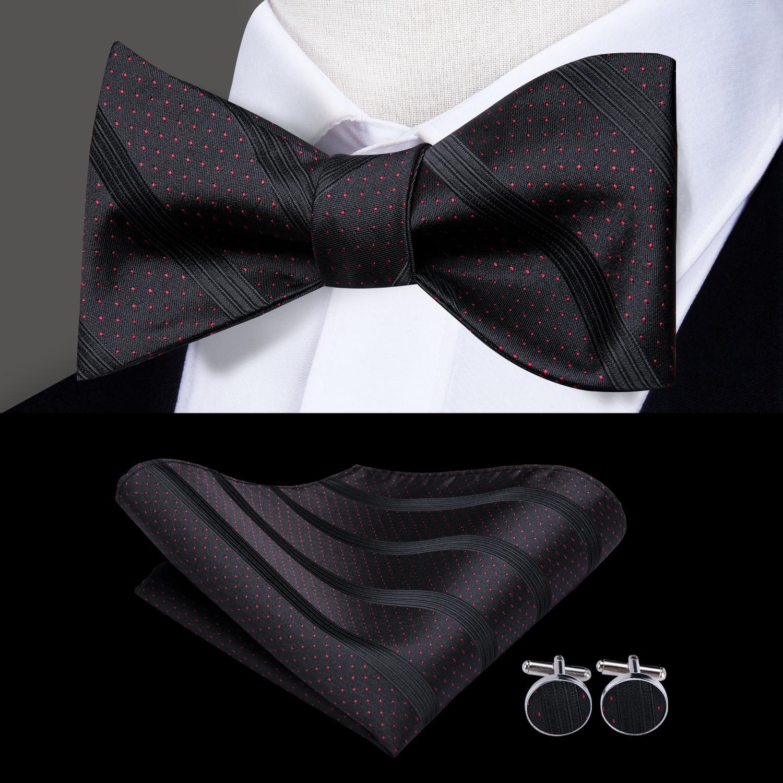 Check Striped Men Silk Cravat Ascot Tie Handkerchief Set #RM1