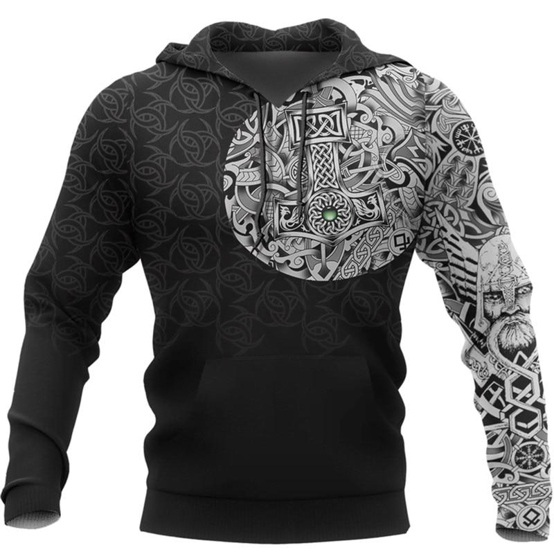 Viking Odin  - Best Viking Tattoo 3D Printed Men Hoodies Harajuku Fashion Hooded Sweatshirt Autumn Unisex Hoodie Sudadera Hombre