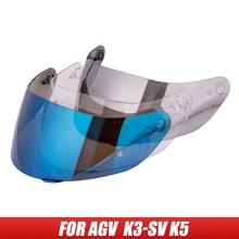 Helmet visor for AGV K5 K3 SV Full face Motorcycle Helmet Shield Parts original glasses for agv k3 sv k5 motorbike helmet Lens