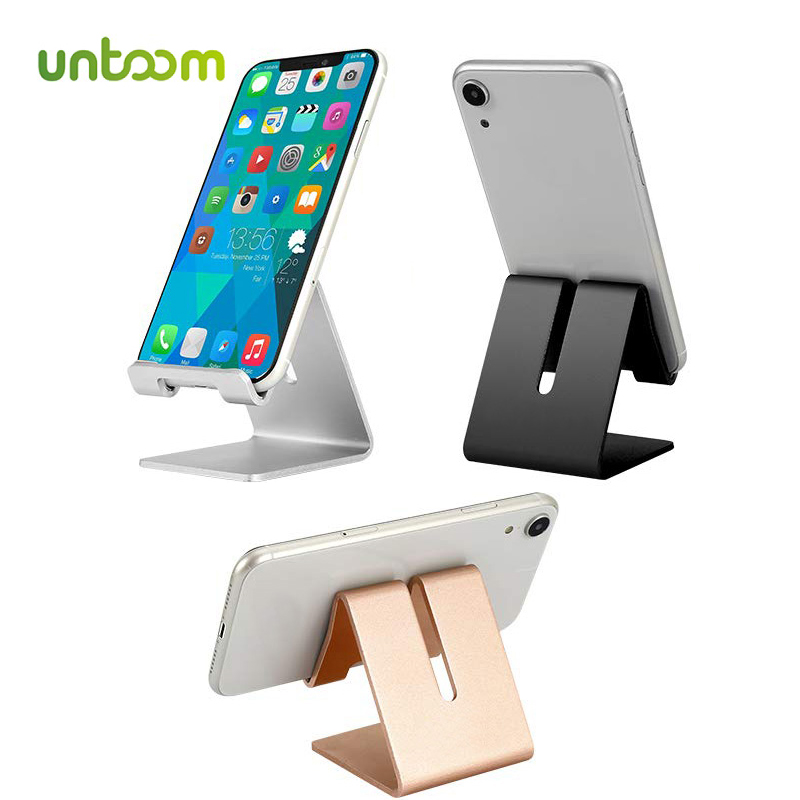 Untoom Mobile Phone Holder Stand For IPhone Xs Max X 8 7 6 Plus Universal Aluminium Alloy Tablet Phone Desk Stand For Samsung S9