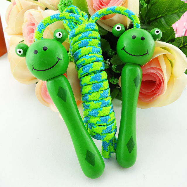 Young STUDENT'S Kindergarten Rope Jump Rope Animal Head CHILDREN'S Toy Sports Game Kids Fitness Cartoon