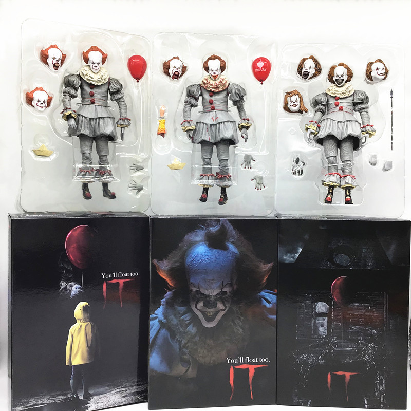 18CM NECA Stephen King It Pennywise Joker  Action Figure Collectible Model Toys Halloween Horror Gift