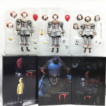 18 Cm Neca Stephen King Het Pennywise Joker Action Figure Collectible Model Toys Halloween Horror Gift(China)