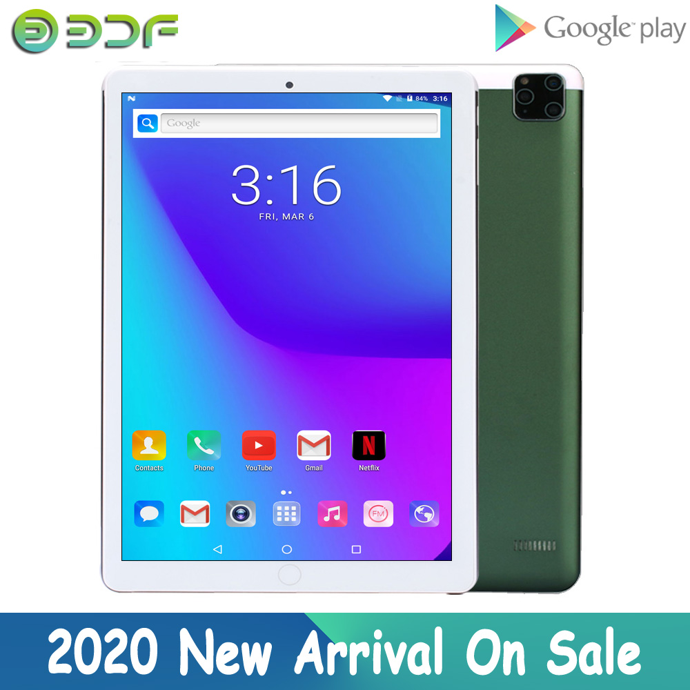 2020 Newest Phone Call Tablet 10 Inch Android 7.0 Quad Core 32GB ROM 3G Dual SIM Card Wifi Bluetooth GPS Tablets Pc OTG Google