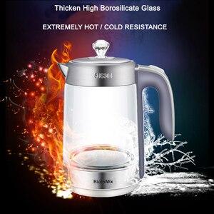 Image 5 - 1.8L BPA FREE 2200W SpeedBoil Electric Glass Kettle Cordless Tea Coffee Pot BLUE LED Light Auto Shut Off  Dry Protection