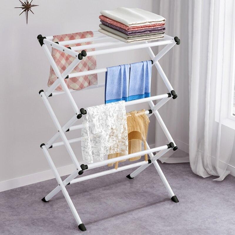 Multifunction Coat Rack Floor Bedroom Hanger Simple Clothes Shelf Household Drying Rack Removable Hanger Towel Rack