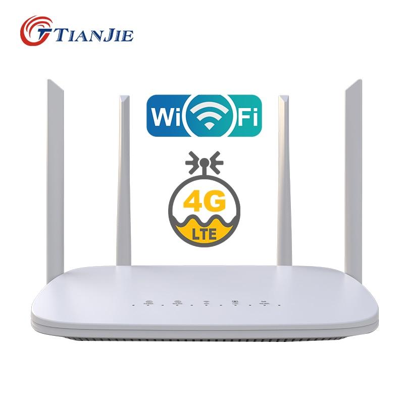 TIANJIE LC116 4G LTE Router wifi modem 4G 4 RJ45 Ports Quad external antennas unlocked GSM UMTS FDD TDD with sim card slot
