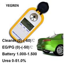 Electronic Car Urea Refractometer Cleaner Freezing Point Tester Antifreeze EG/PG Test Urea Solution Concentration Detection все цены