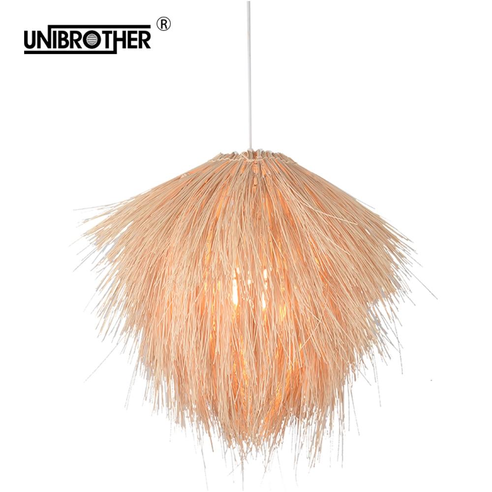 파인 콘 타입 교수형 램프 펜던트 조명 등나무 램프 전등 서스펜션 조명기구 현대 홈 인테리어