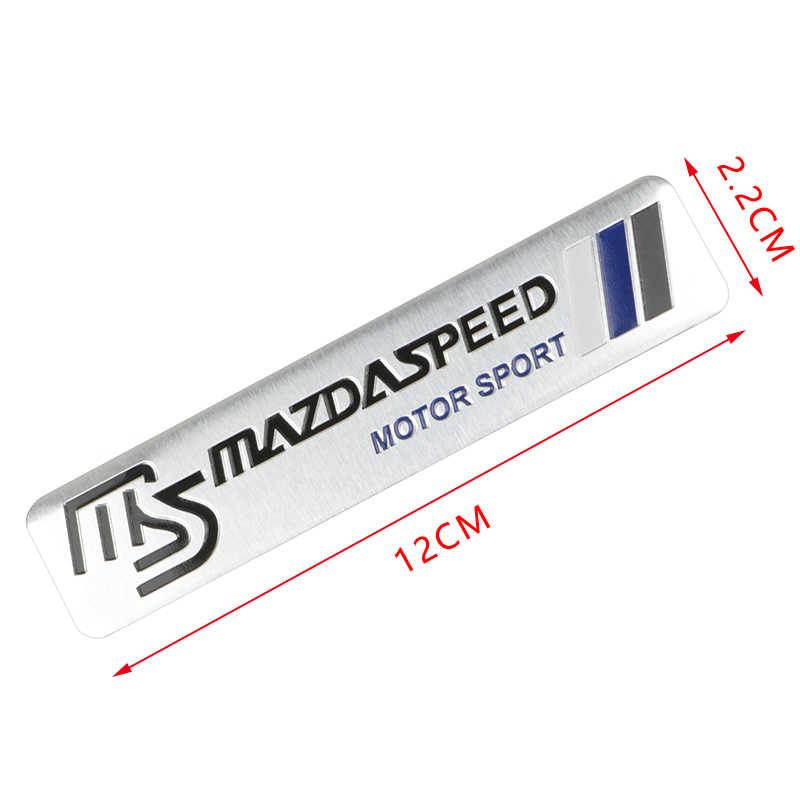 1pcs Car styling In Alluminio 3D MS Adesivi logo Dell'emblema Della Decalcomania Per Mazda 2 3 5 6 M5 Ms CX-4 CX-5 CX-9 CX6 M3 M6 MX3 Accessori Auto