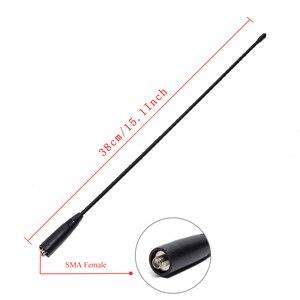 Image 3 - Antena do chicote da tri faixa 144/222/435 mhz para baofeng BF R3 UV 82T UV S9 UV 5R btech UV 82 btech UV 5X3 do btech