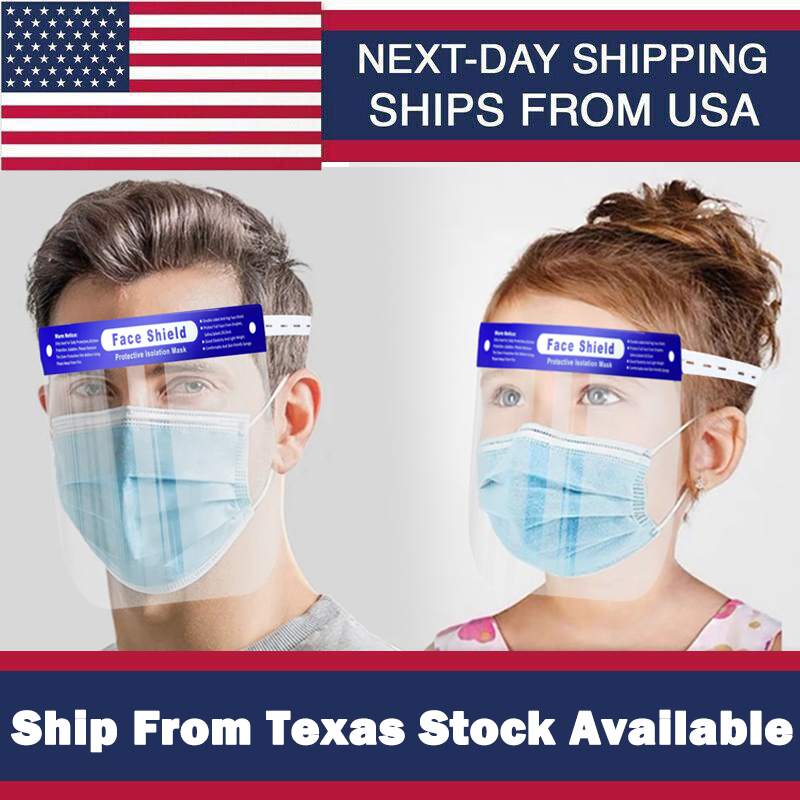 US Kids Adult Safety Full Face Sheild Plastic Clear Protector Industry Dental Protector Anti-Splash Work Industry Facial Cover