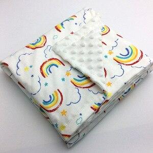 Image 3 - Minky Baby Blanket Flannel Fleece Animal Blanket Infant Swaddle Nap Receiving Stroller Wrap For Newborn Baby Bedding Blankets