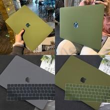 Новый чехол для ноутбука Apple Macbook M1, чип Air Pro Retina 13 15 16 дюймов, чехол для ноутбука Pro Air A2337 A2179 A2338 с бесплатной клавиатурой