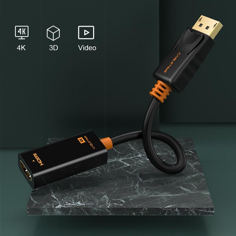 Cabletime Dp Naar Hdmi-Compatibel M/F Converter 4K/2K Display Port Naar Hdmi-compatibel Adapter Displayport Hdmi 4Kfor Macbook N007 3