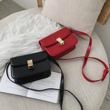 купить 2019 New Female Bag Lock Plug-in Super Fire Retro Tofu Bag Small Square Bag Wild Stewardess Shoulder Messenger Bag дешево