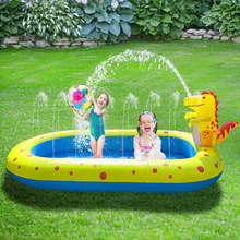 Inflatable dinosaur fountain swimming pool Outdoor dolphin sprinkling game Children's splashing toys  swimming bath