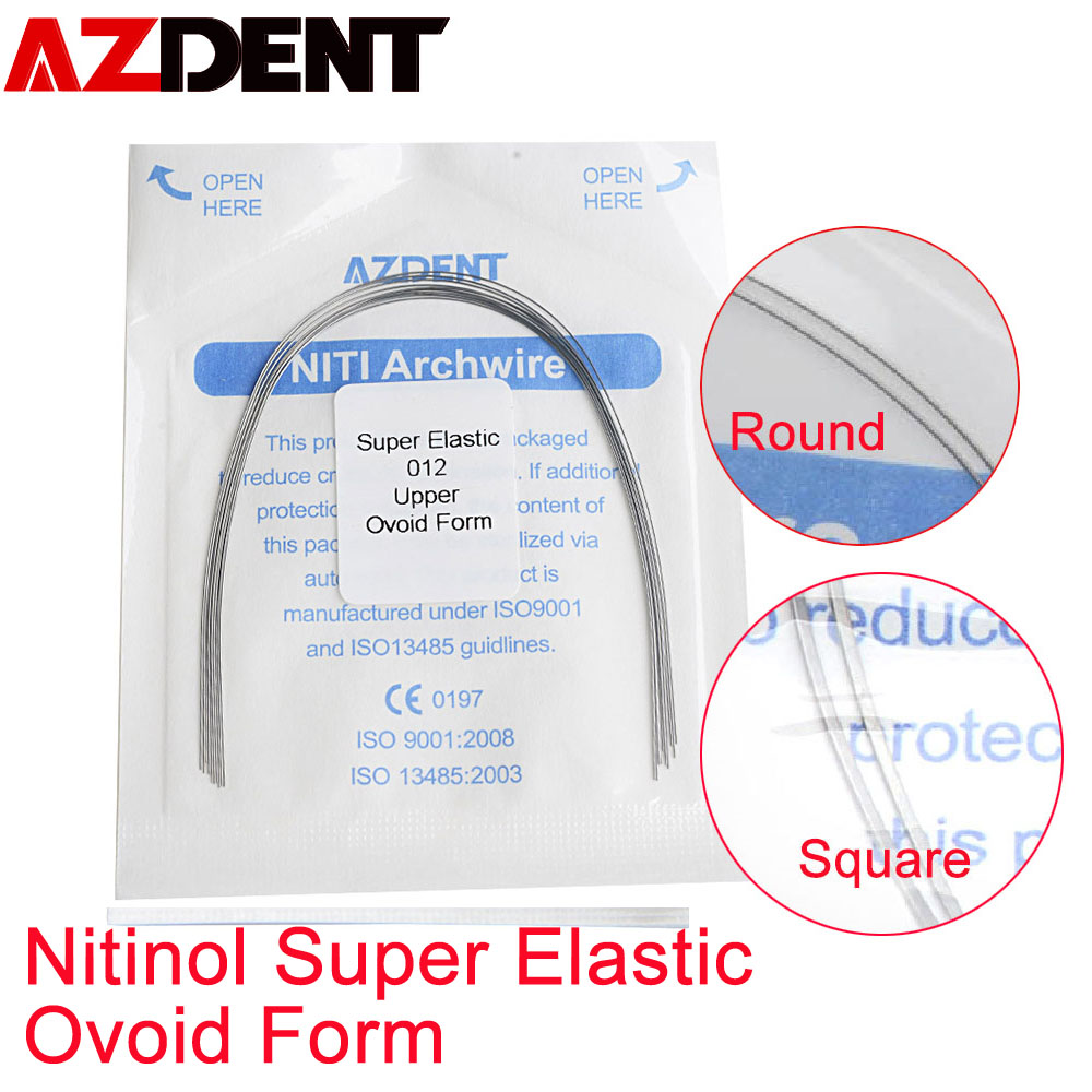 Nitinol Wire  Super Elastic  Round / Square Type   Oval Form Orthodontic Wire