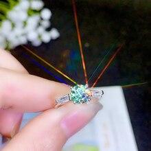 BOEYCJR 925 Silber 1ct/2ct Blau farbe Moissanite VVS Engagement Hochzeit Diamant Ring Mit nationalen zertifikat für Frauen