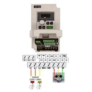 Image 4 - Darmowa wysyłka szybka wysyłka 1 zestaw 1.5kw VDF 110v/220v falownik + chłodzony powietrzem kwadratowy silnik wrzeciona CNC + 7 sztuk er11 tuleje dla CNC