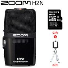 Zoom H2N – enregistreur vocal pratique, avec carte SD Kingston 16 go, Microphone intégré, pour enregistrement de musique et vidéo, Interviews