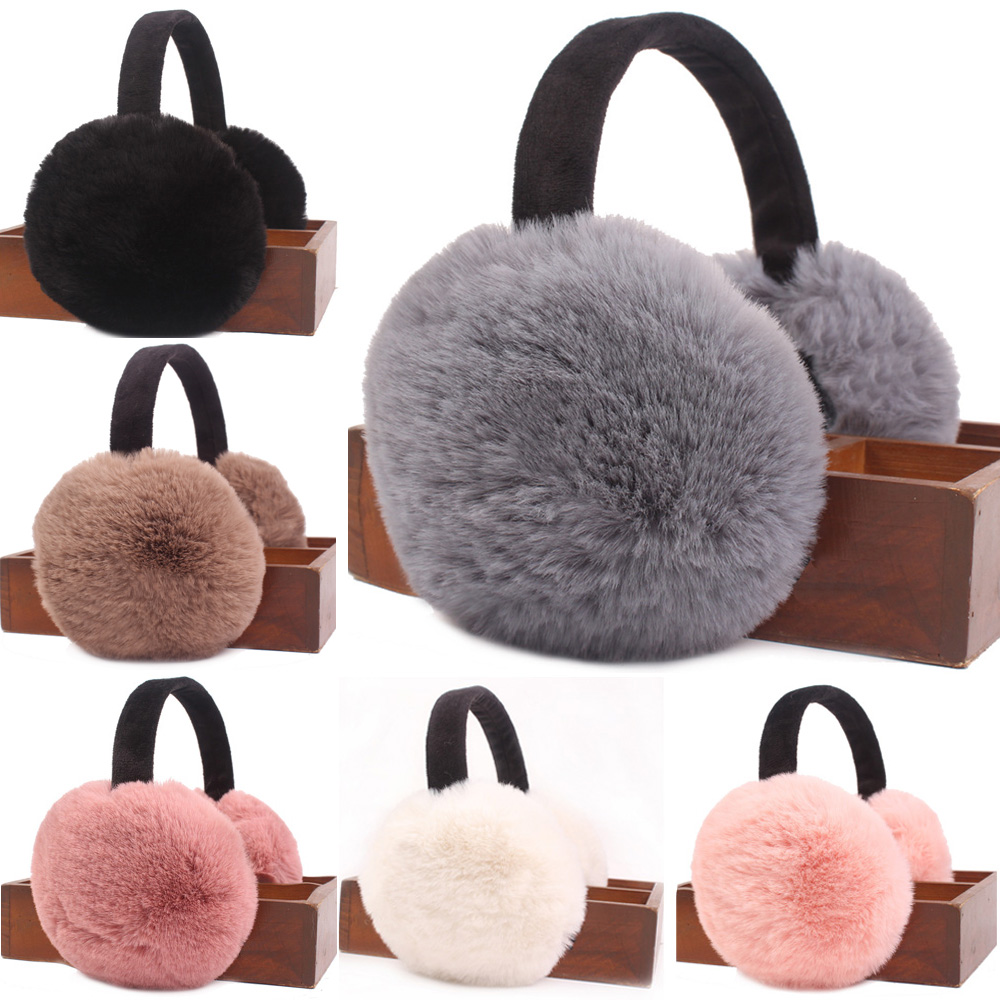 Women Solid Color Winter Warm Earwarmers Ear Muffs Foldable Soft Warmer Earmuffs CSHAT0427