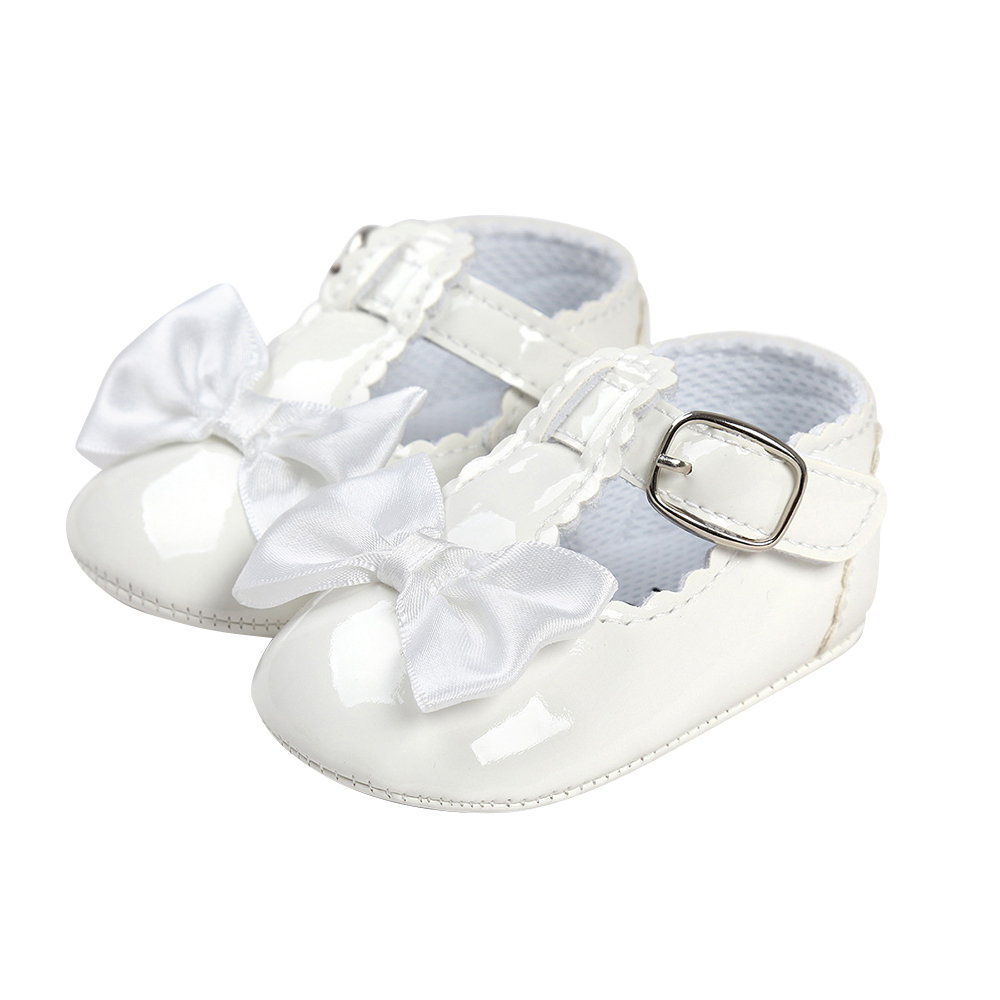 New Born Baby Girl Shoes Bowknot Party Princess Baby Shoes Casual PU Leather Buckle Toddler Shoes Baby Booties Chaussures D30