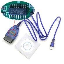 OBD2 CH340 çip USB kablosu KKL VAG COM 409.1 OBD2 OBDII teşhis tarayıcı VW Audi Seat Skoda için