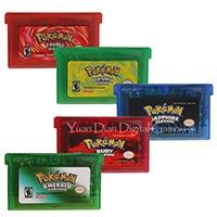32 비트 비디오 게임 카트리지 콘솔 카드 포크 시리즈 에메랄드/사파이어/루비/리프 그린/파이어 레드 영어 버전 미국 버전
