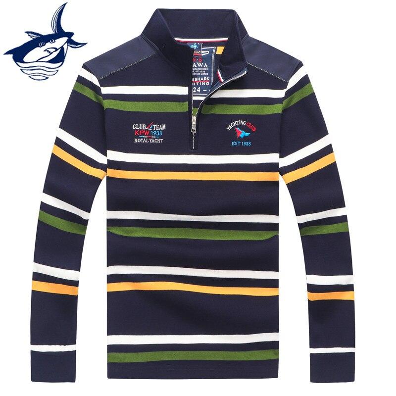 2019 Fashion Brand Tace & Shark Sweater Men & Polo Shirt Men Elegant Casual Business Striped Men's Sweaters Pullover Men