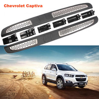 For Chevrolet Captiva 2008 2019 Running Boards Side Step Bar Pedals High Quality Auto Nerf Bars