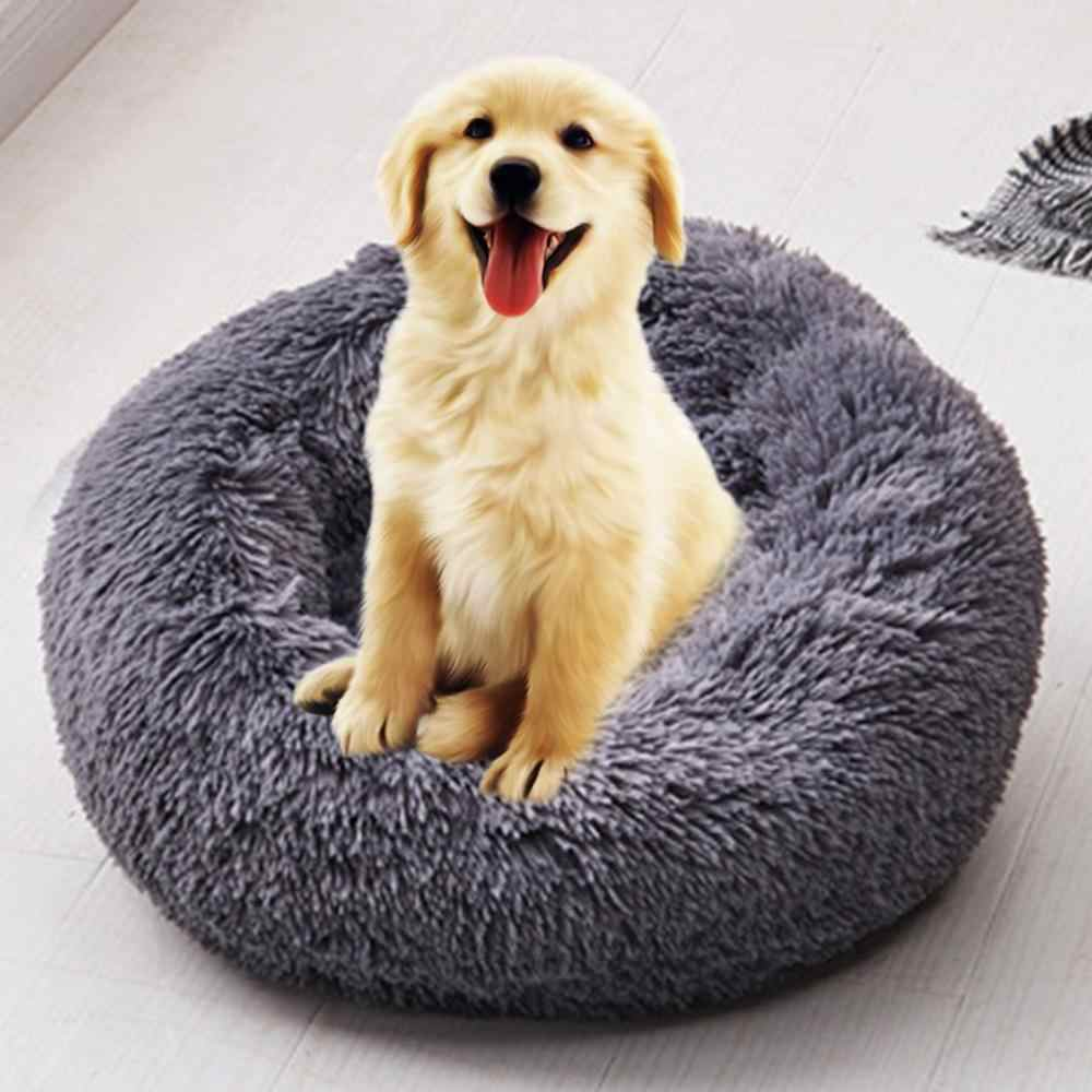 Soft Long Plush Pet Bed Cat Bed House Round Pet Dog Bed For Small Dogs Cats Nest Winter Warm Sleeping Bed Puppy Mat Houses Kennels Pens Aliexpress