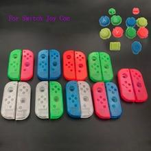 10 juegos de plástico Joy Con funda carcasa para Nintendo Switch, carcasa transparente personalizada, botones coloridos