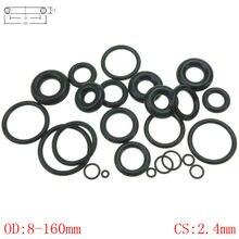 CS 2,4 мм OD8-160mm NBR резиновое уплотнительное кольцо уплотнительная прокладка для масла уплотнение автомобиля