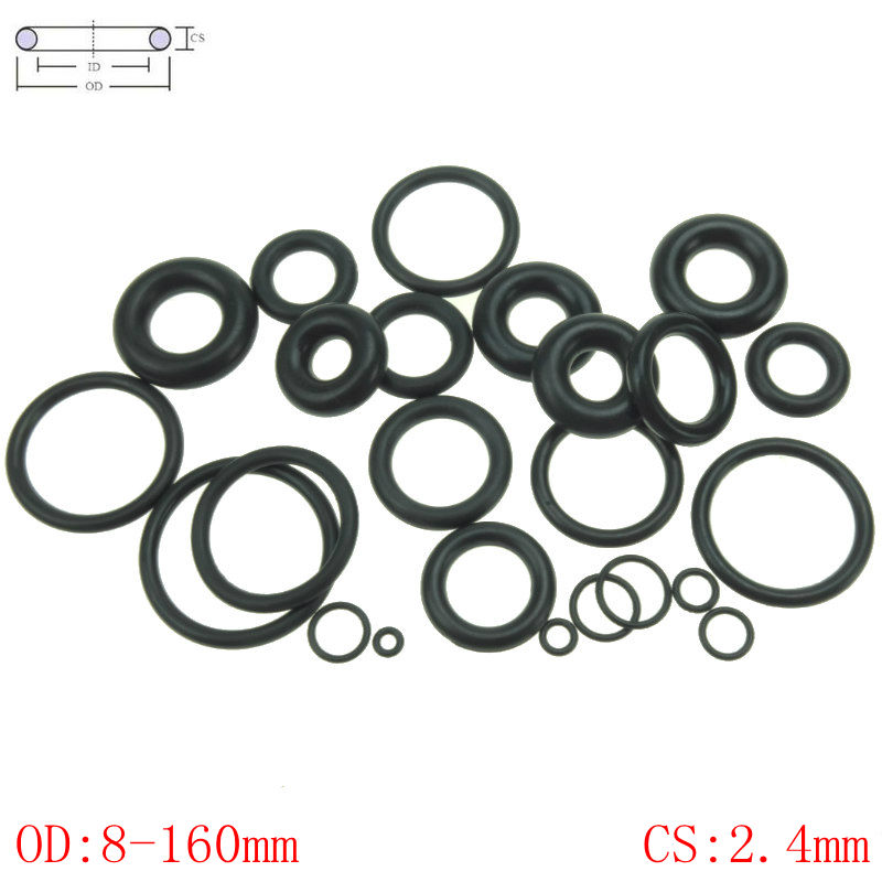 CS 2.4mm OD8 160mm NBR Rubber O Ring O Ring Oil Sealing Gasket Automobile Sealing|Gaskets| |  - title=