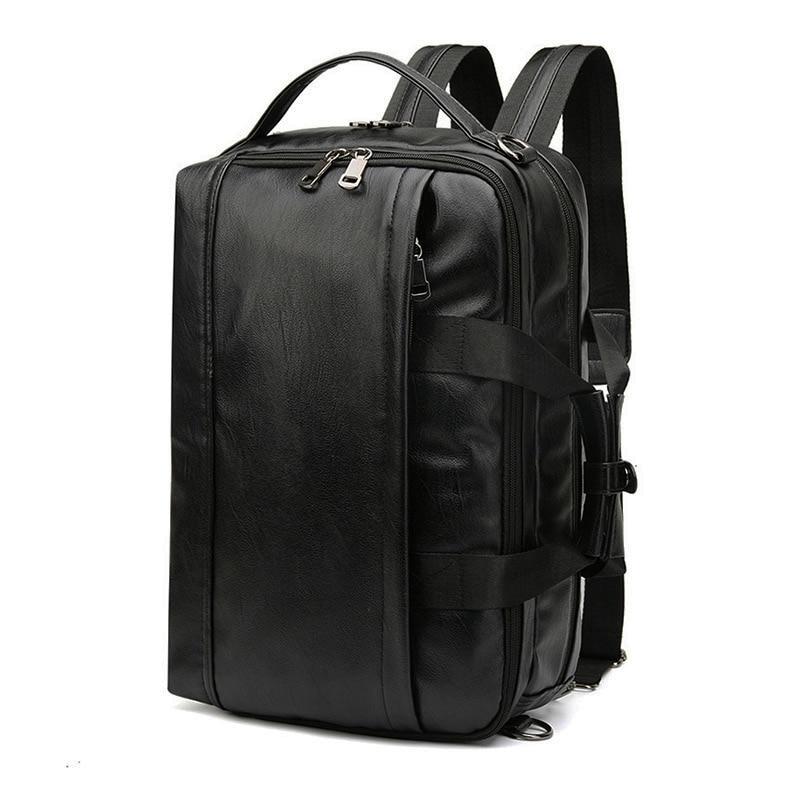 PU Men's Leather Backpack Men Male Laptop Bagpack 15.6 Notebook Bag Back Pack Schoolbag Backpacks Shoulder Bag For Men Mochili