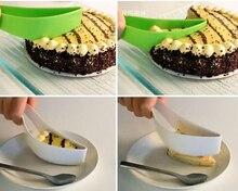 Cake Pie Slicer Sheet Guide Cutter Server Bread Slice Knife Kitchen baking tools New цены
