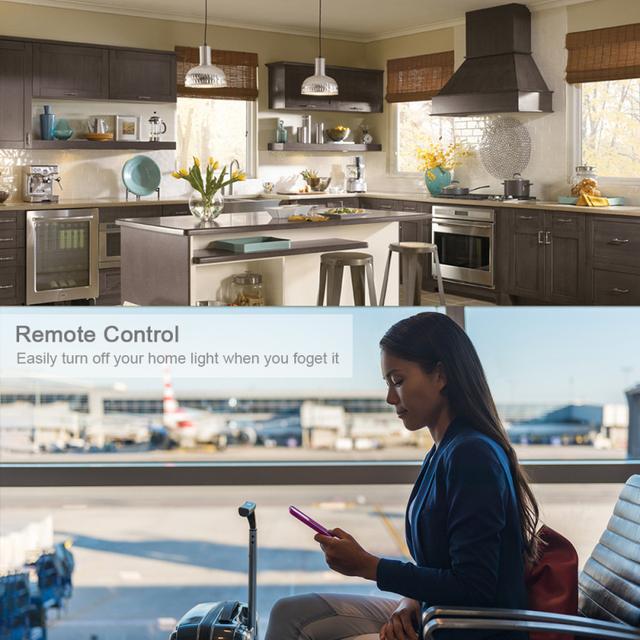 WiFi Smart Alexa Echo Voice Control LED Bulb,for Google Assiant IFTTT Tuya Smart Life App Smart Home Light Bulb Timing Bulb