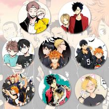 Anime Hohe Kyuu!! Emaille pin Volleyball Junge Cos Tsukishima Firefly Sonne Xiang XCosplay Bedge Cartoon Taschen Abzeichen Taste Brosche(China)