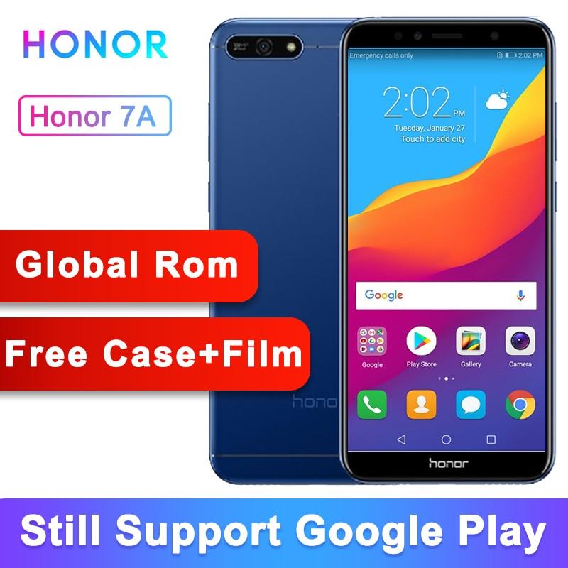 Rom globale Original Honor 7A Play 2G 32G 5.7 pouces écran 4G LTE téléphone portable identification de visage déverrouiller Android 8.0 13MP caméra 3000mAh