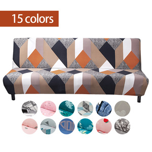 Armless Sofa Bed Cover Universal Folding Modern seat slipcovers stretch covers cheap Couch Protector Elastic Futon Spandex Cover