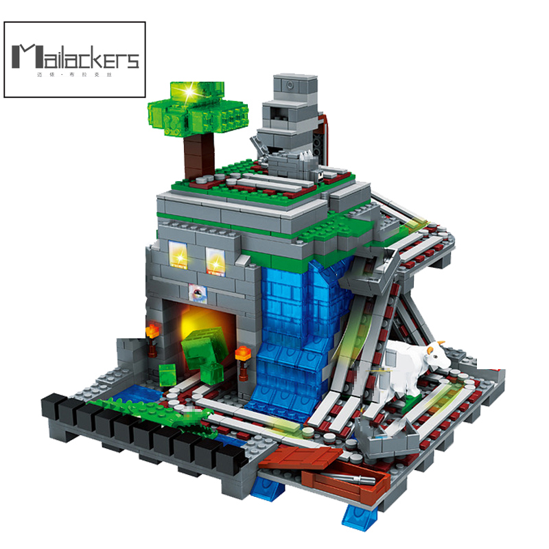 1351pcs Building Blocks My World Compatible Minecrafted 3D Light Organs Of The Cave Castle Village Series